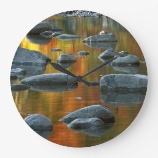 USA, West Virginia, Spruce Knob-Seneca Rocks 3 Large Clock