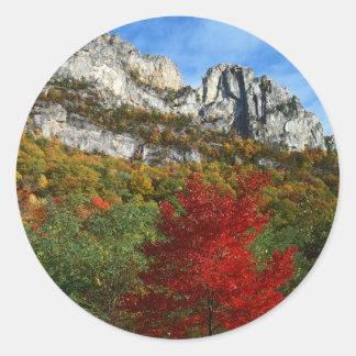 USA, West Virginia, Spruce Knob-Seneca Rocks Classic Round Sticker