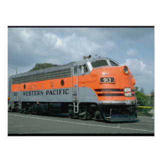 USA, Western Pacific EMD_Trains of the World Poster