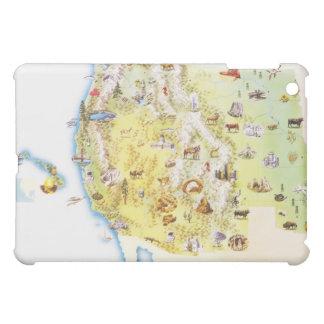 USA, western states of America, map iPad Mini Cases