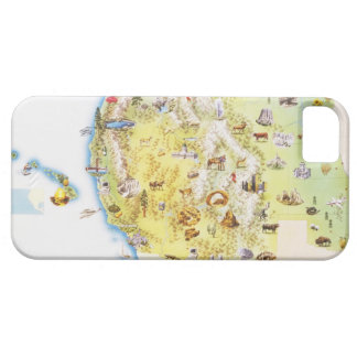 USA, western states of America, map iPhone SE/5/5s Case