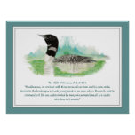 USA Wilderness Act Quote, Watercolor Loon Print