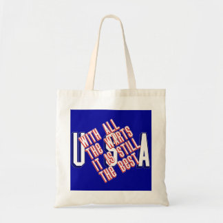 USA - With All The Warts Tote Bag
