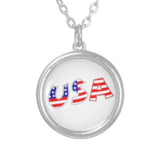 USA with American Flag Pattern Custom Jewelry
