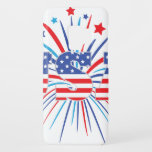 "USA with red white and blue fireworks Case-Mate Samsung Galaxy S9 Case<br><div class=""desc"">Celebrate the 4th of July with this fun patriotic design featuring USA,  the stars and stripes and fireworks behind the lettering.</div>"