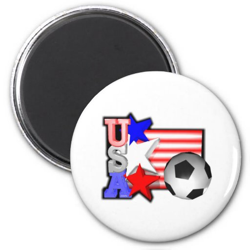 USA WOMEN SOCCER STARS make America shine 2 Inch Round Magnet