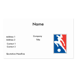USA womens girls soccer Business Card Templates