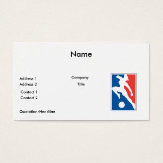 USA womens girls soccer Business Card