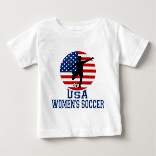 USA Womens Soccer Baby T_Shirt