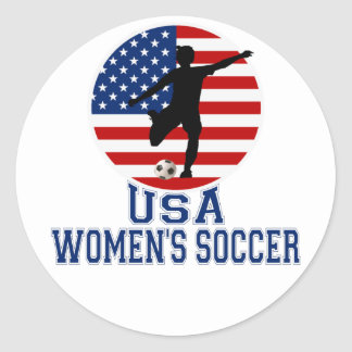 USA Women's Soccer Classic Round Sticker