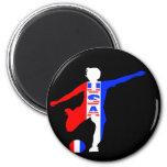 USA Women's Soccer Logo 2 Inch Round Magnet