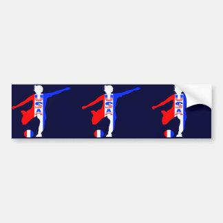 USA Women's Soccer Logo Car Bumper Sticker