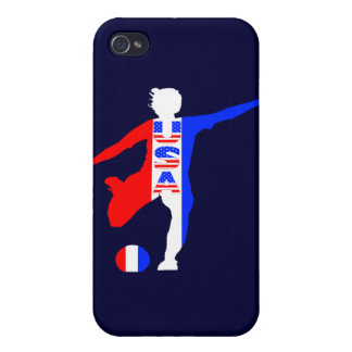 USA Women's Soccer Logo Cover For iPhone 4