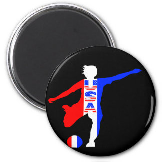 USA Women's Soccer Logo Magnet