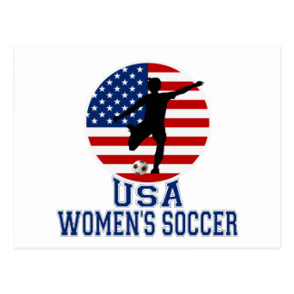 USA Women's Soccer Postcard