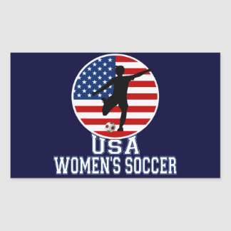 USA Women's Soccer Rectangular Sticker