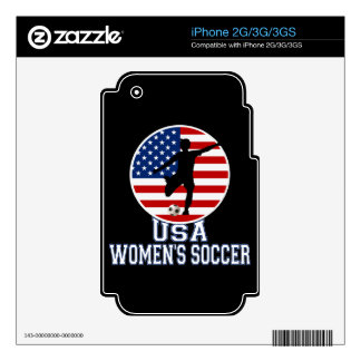 USA Women's Soccer Skins For The iPhone 3