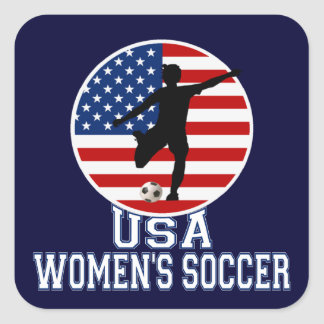 USA Women's Soccer Square Sticker