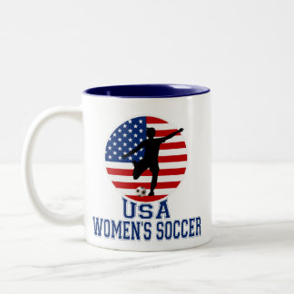USA Women's Soccer Two-Tone Coffee Mug