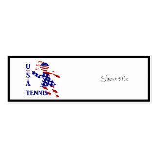 USA Women's Tennis Business Cards