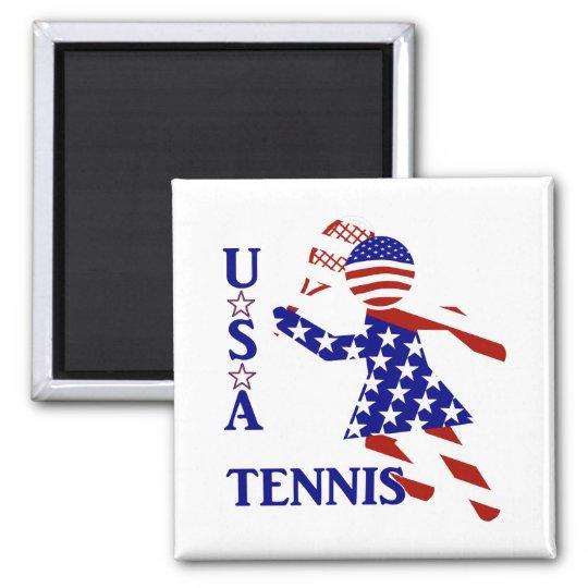 USA Women's Tennis Magnet