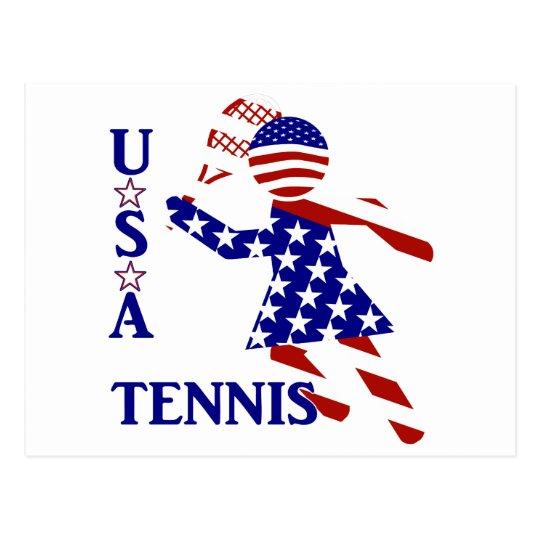 USA Women's Tennis Postcard