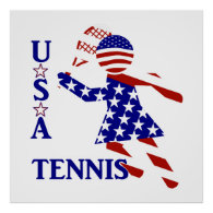 USA Women's Tennis Poster
