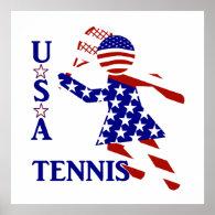 USA Women's Tennis Poster