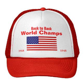 USA World Champs 1918 1945 Mesh Hats
