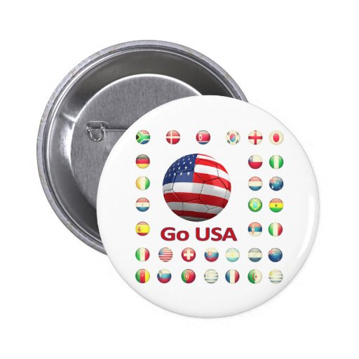 USA  World Cup 2010 South Africa Pinback Buttons
