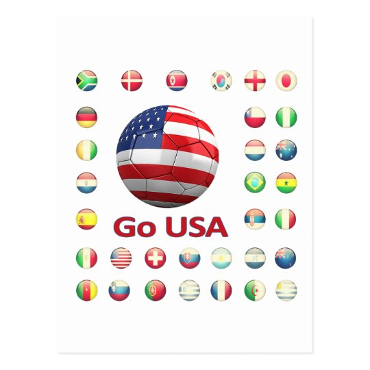 USA  World Cup 2010 South Africa Postcard