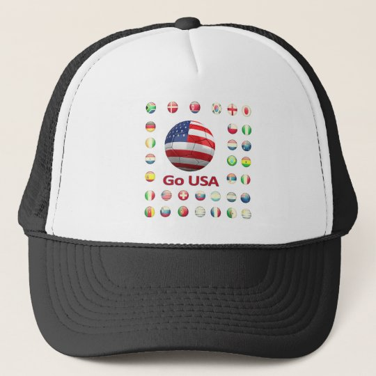 USA  World Cup 2010 South Africa Trucker Hat