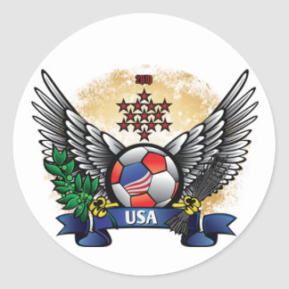 USA World Cup Soccer Classic Round Sticker