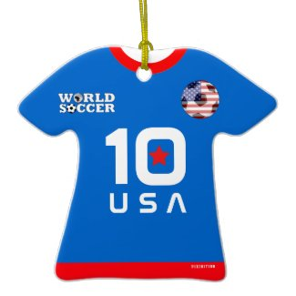 USA World Cup Soccer Jersey Ornament ornament