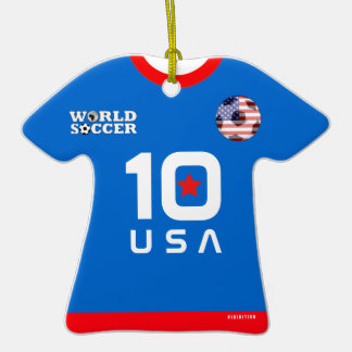 USA World Cup Soccer Jersey Ornament