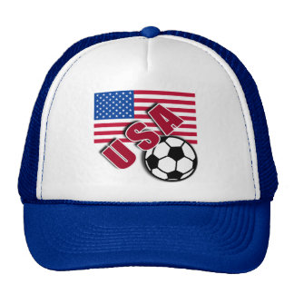 USA World Soccer Fan Tshirts Trucker Hat