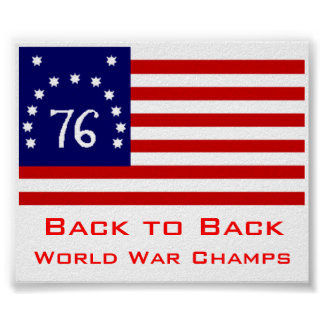USA world war back to back champs Poster