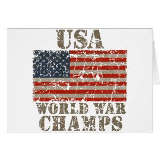 USA, World War Champions Card
