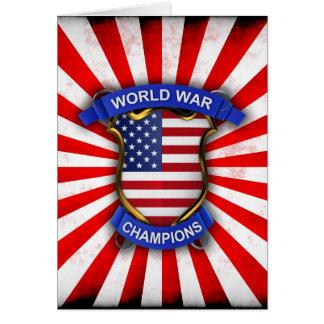 USA World War Champions Greeting Card