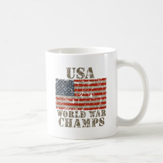 USA, World War Champions Classic White Coffee Mug