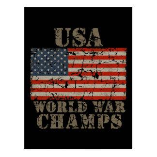 USA, World War Champions Postcard