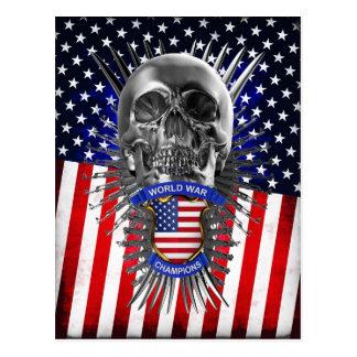 USA World War Champions Postcard