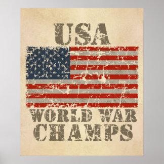 USA, World War Champions Posters