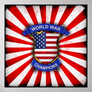 USA World War Champions Posters