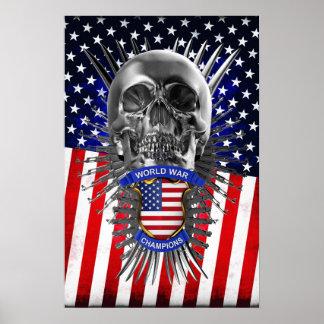 USA World War Champions Poster