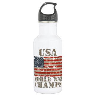 USA, World War Champions Stainless Steel Water Bottle