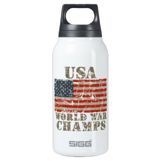 USA, World War Champions Thermos Water Bottle