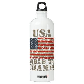 USA, World War Champions Water Bottle