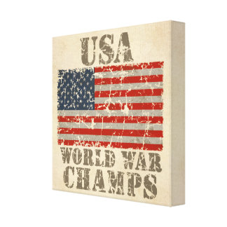 USA, World War Champs Gallery Wrapped Canvas