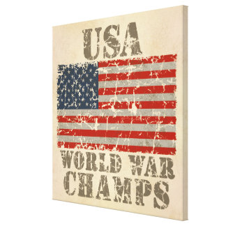 USA, World War Champs Stretched Canvas Prints